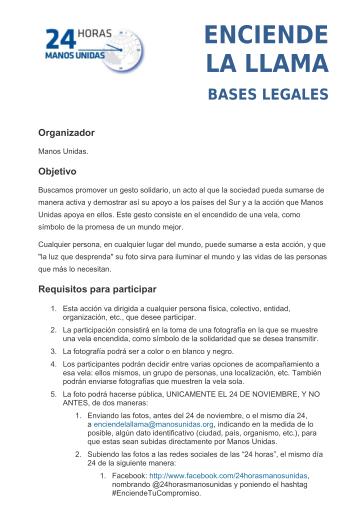Bases legales para Enciende la Llama