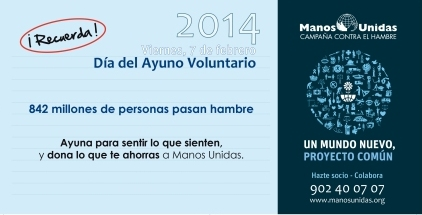 Manos Unidas_Ayuno Voluntario