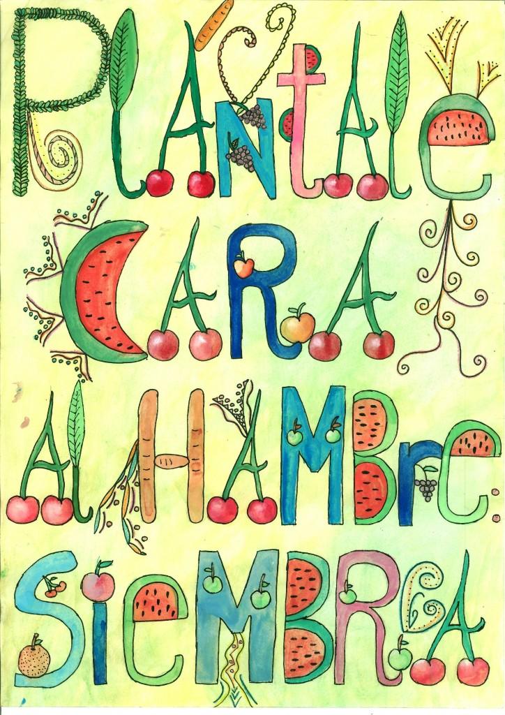 Dibujo de Ana Doblas ganador del Premio Manos Unidas de Carteles para Centros Educativos