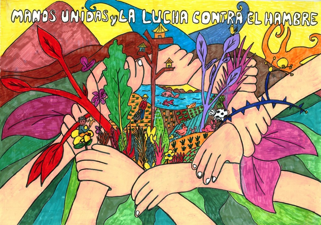 premio Manos Unidas de Carteles para Niños y Jóvenes. Xoel López