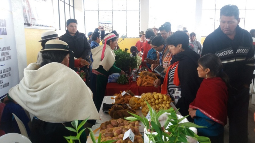 Exposición de derechos y emprendimientos agropecuarios en la que hemos participado a través del Convenio Ecuador de Manos Unidas y la Cooperación Española FOTO Organización de mujeres San Francisco Cuatro Esquinas/Manos Unidas
