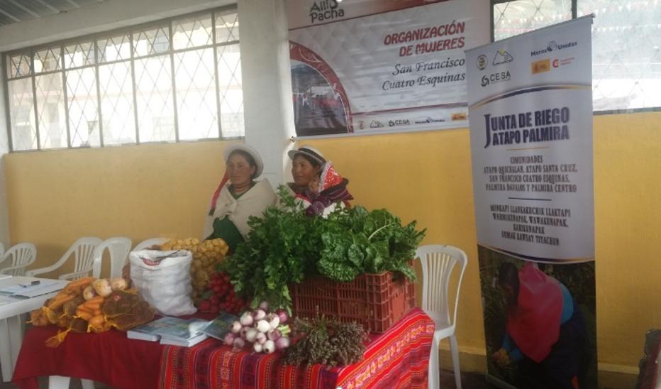 La Organización de mujeres San Francisco CuatroEsquinas forma parte del Convenio de Ecuador de Manos Unidas con la Cooperación Española