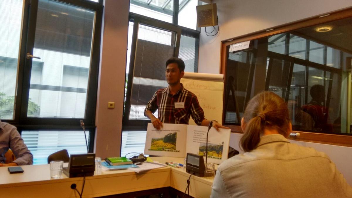 Taller Clima y Agricultura organizado por CIDSE en Bruselas. Foto Claudia Beltrán/Manos Unidas