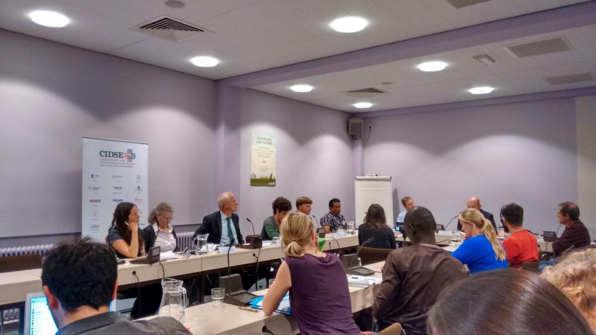 Un momento del taller Clima y Agricultura organizado por CIDSE en Bruselas. Foto Claudia Beltrán/Manos Unidas
