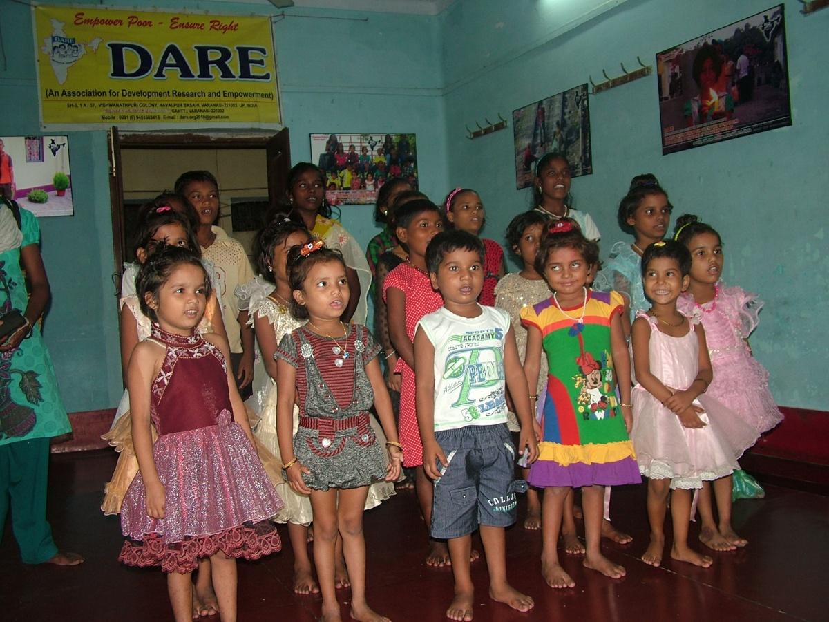 Niños acogidos en el centro de DARE en Varanasi, (India) Foto: Manos Unidas
