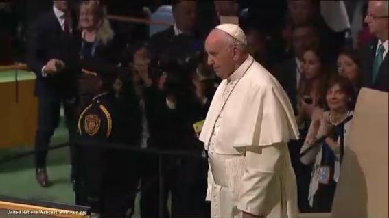 El Papa Francisco al finalizar su intervención