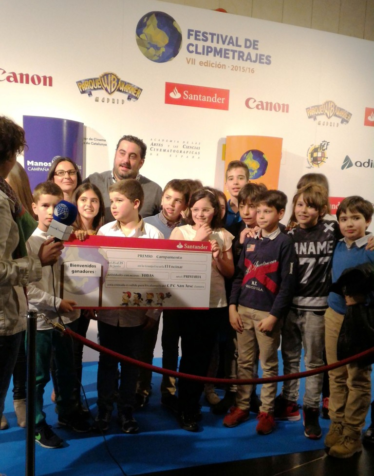 Premio al Mejor Clipmetraje de Priemaria_C.P.C. San José, Zamora.Foto:marta carreño