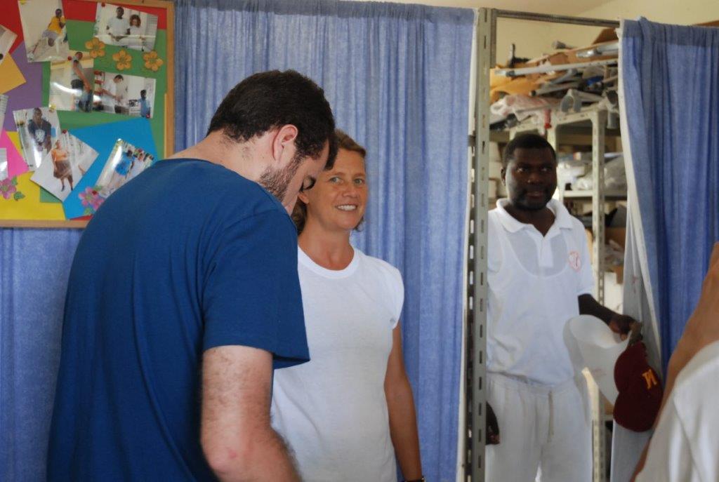 Isa Solá en un centro de salud