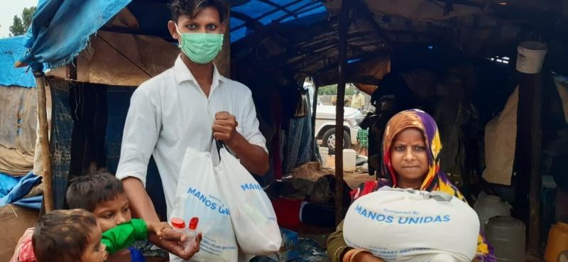 Proyectos de emergencia contra el coronavirus en India (Foto ilustrativa: India | Manos Unidas)
