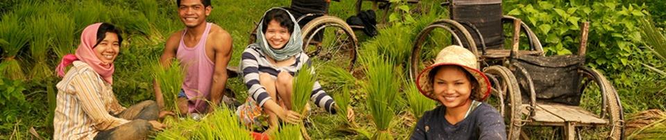 Campesinos discapacitados en Camboya. Foto:Sauce