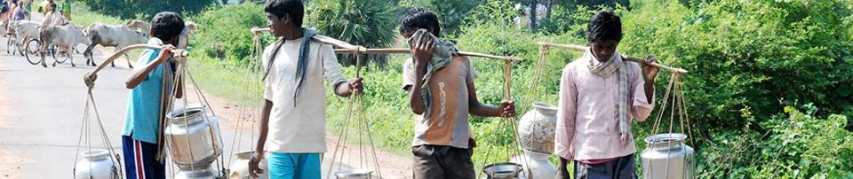 Campesinos indios en el camino. Foto:Victordass