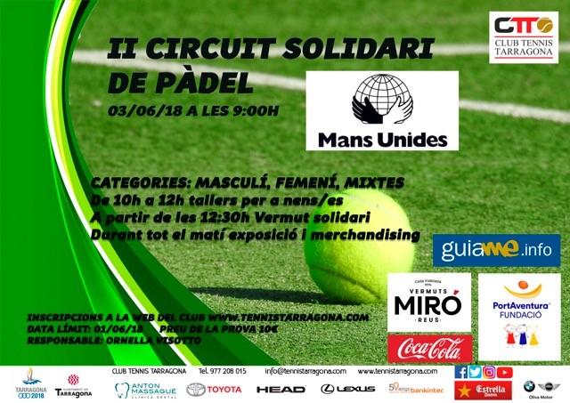 Pádel Solidario en el Club Tennis Tarragona