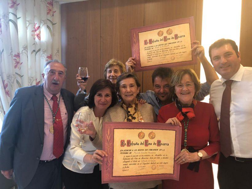 Cofradía del Vino de Navarra nombra cofrade de honor a Manos Unidas en Larraga