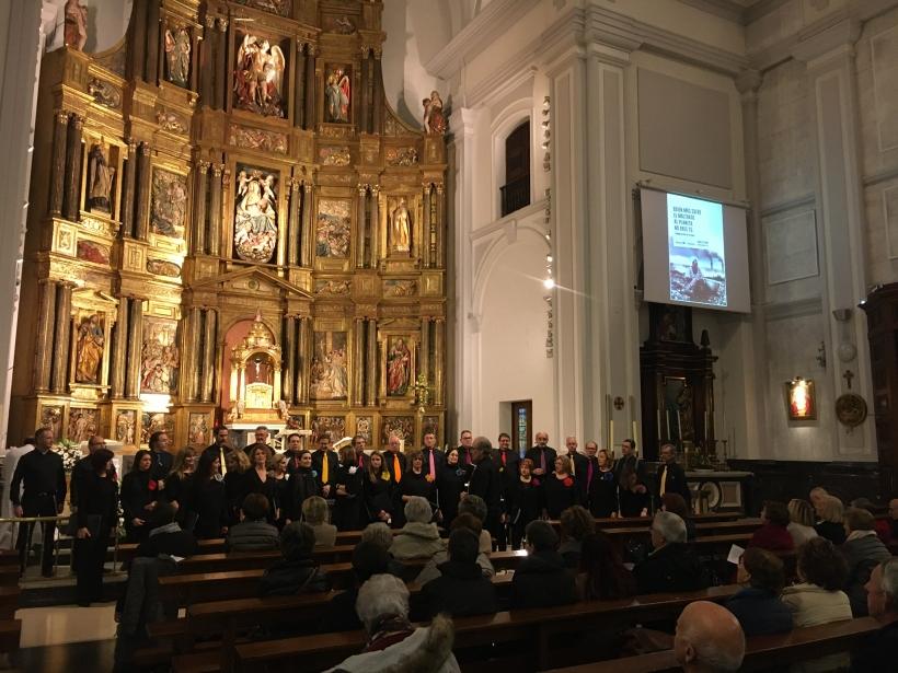 Eucaristía y Concierto en el día del ayuno voluntario en la parroquia de San Miguel de Pamplona