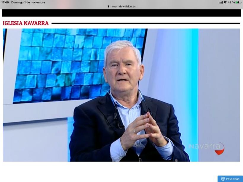 Navarra Televisión entrevista a José Javier Castiella de 'La peseta solidaria'