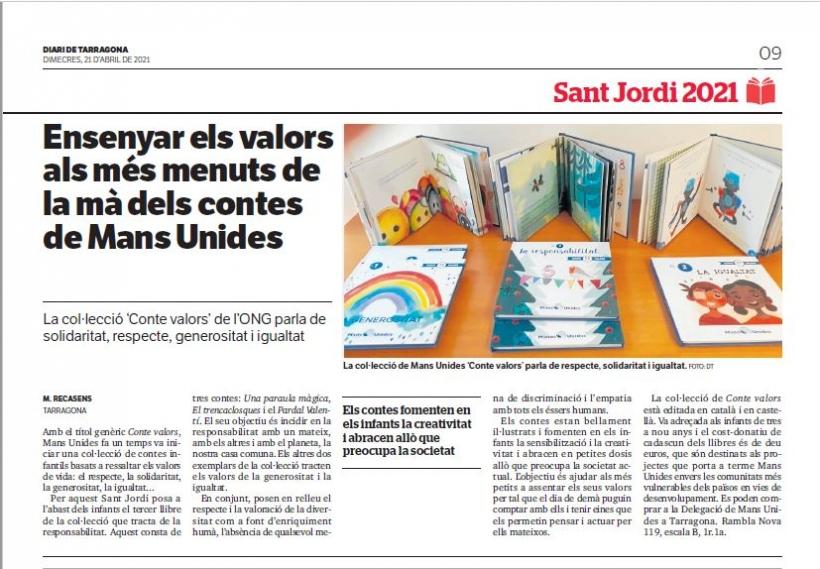 Nuevo libro de cuentos por Sant Jordi