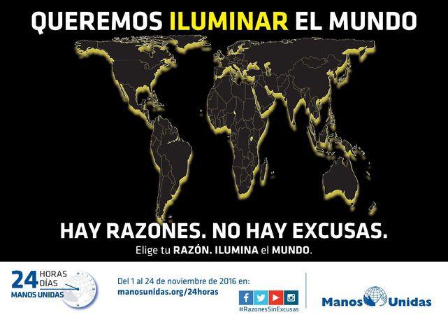 """""""Queremos iluminar el mundo"""" pretende sensibilizar a la población de la injusticia del hambre en el mundo."""