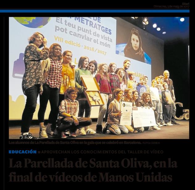 La escuela La Parellada de Santa Oliva a la Final de Clipmetrajes