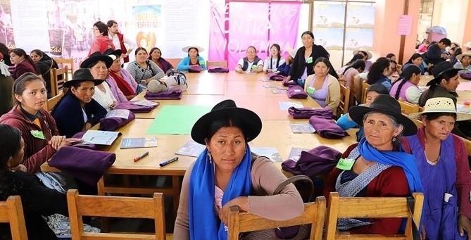 Programa Defensoría de la Mujer del Centro Juana Azurduy (CJA) Sucre, Bolivia. Foto: Manos Unidas