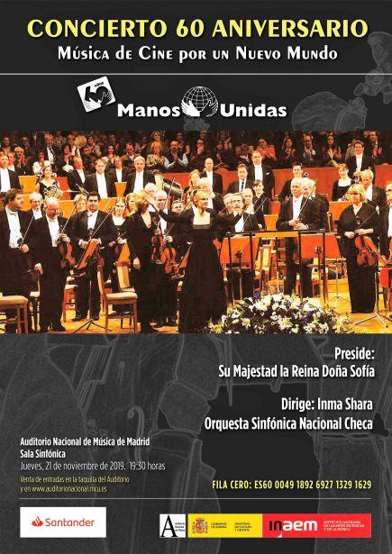 Cartel concierto 60 aniversario de Manos Unidas