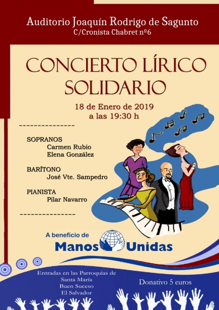 Concierto Lírico Solidario organizado por Manos Unidas Sagunto.
