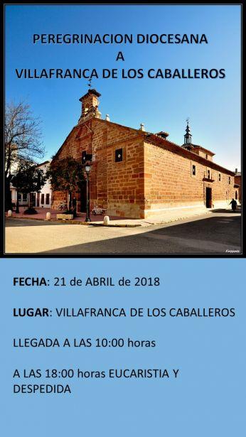 Peregrinación a Villafranca de los Caballeros. Manos Unidas Toledo