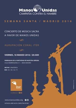 Cartel del concierto de Semana Santa de Manos Unidas