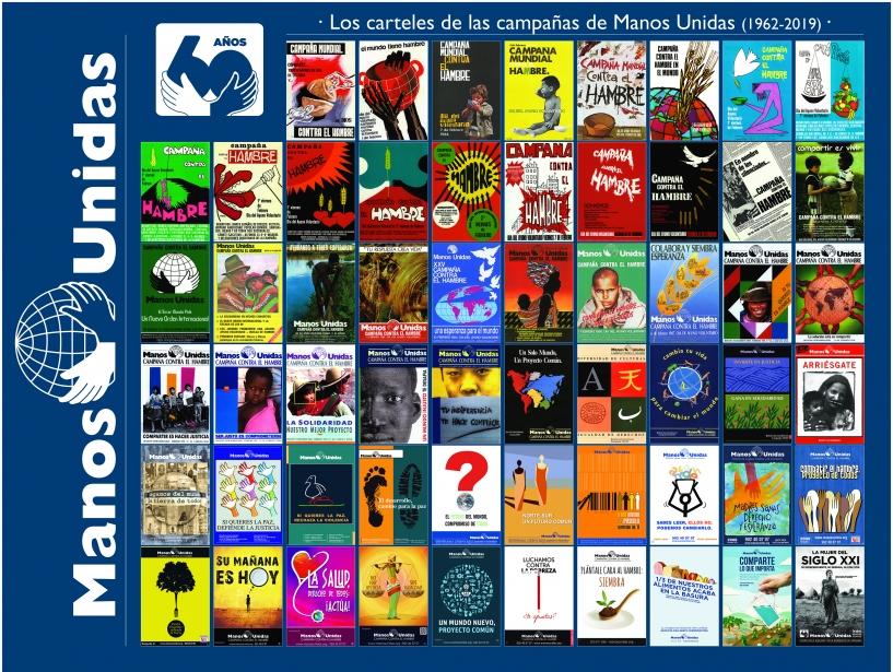 Histórico de carteles de todas las campañas de Manos Unidas