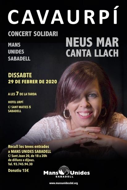Concierto solidario de Neus Mar en Sabadell