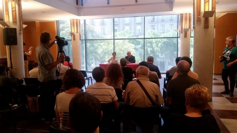 Begoña Floría presenta la rueda de prensa programación Teatros Tarragona