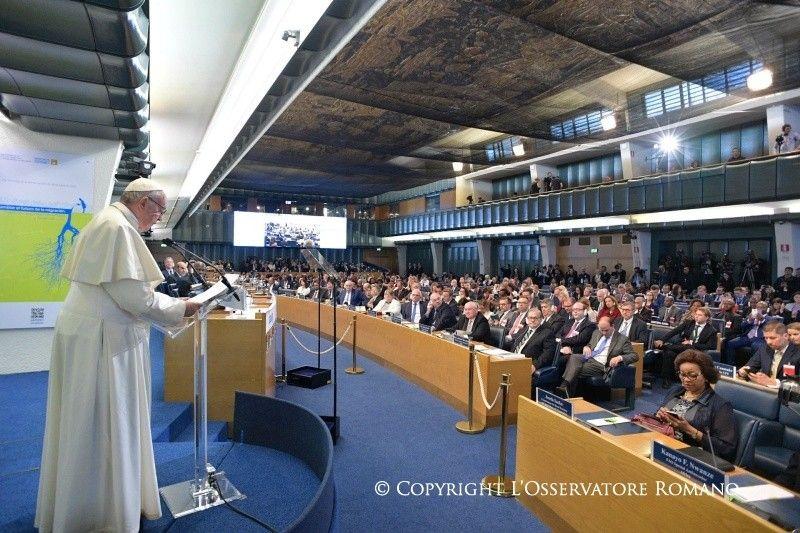 Francisco ante la FAO: un tirón de orejas a la comunidad internacional