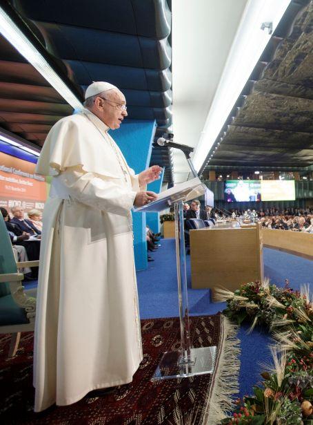 El Papa Francisco en la FAO. Foto:FAO