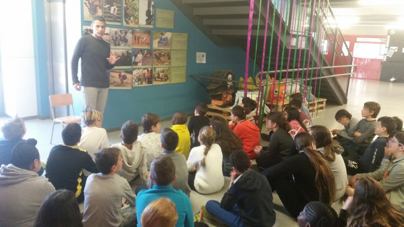 Exposición en escuela Voramar de Salou