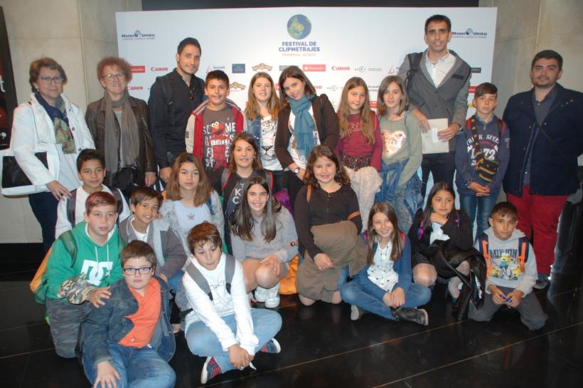 Acto Final Nacional de la VIII edición del Festival de Clipmetrajes de Manos Unidas en Madrid