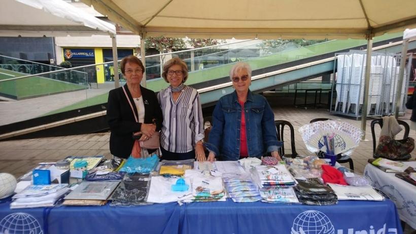 Mesa sensibilización en la Feria Solidaridad de Vila-Real. 2019