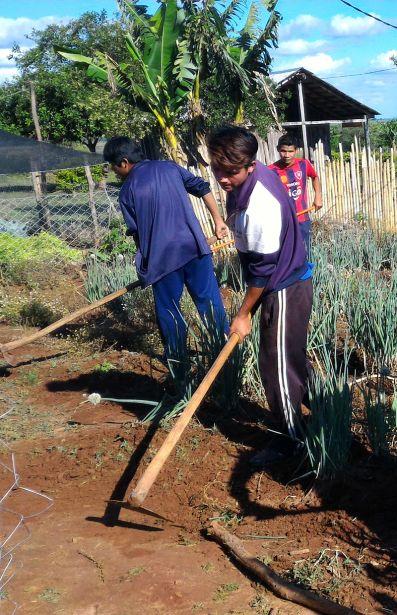 Millones de personas viven de la agricultura. En la imagen idígenas Mbyes Guaraníes en Paso Yobái-Paraguay. Foto Marta Isabel González-Manos Unidas
