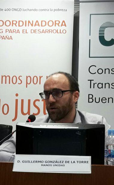 Guillermo González de la Torre durante su intervención en la Jornada de Transparencia del 8 de noviembre.