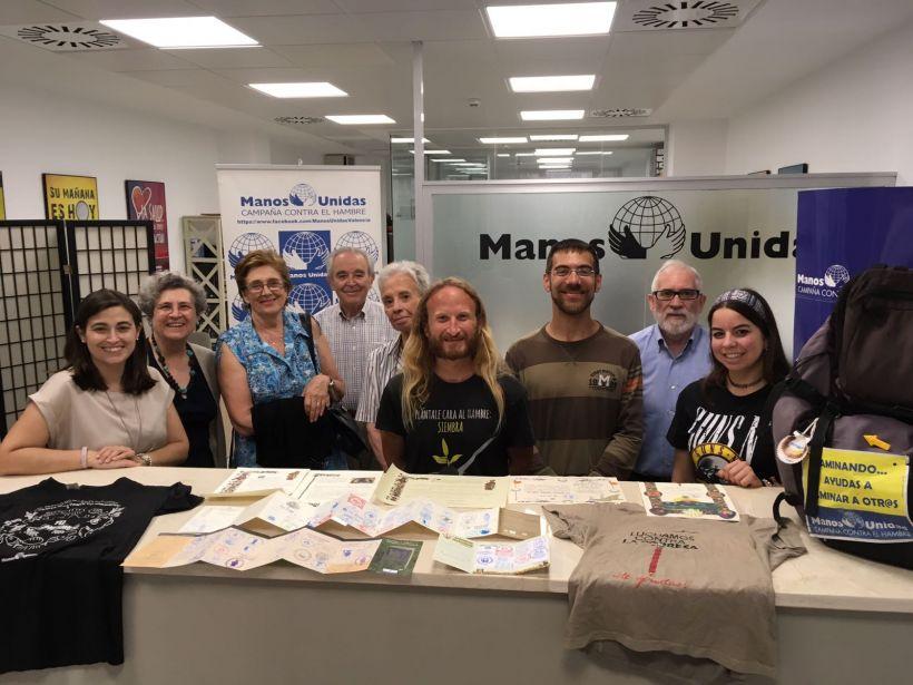 Manos Unidas Valencia recibe a Rubén Arnal, joven solidario