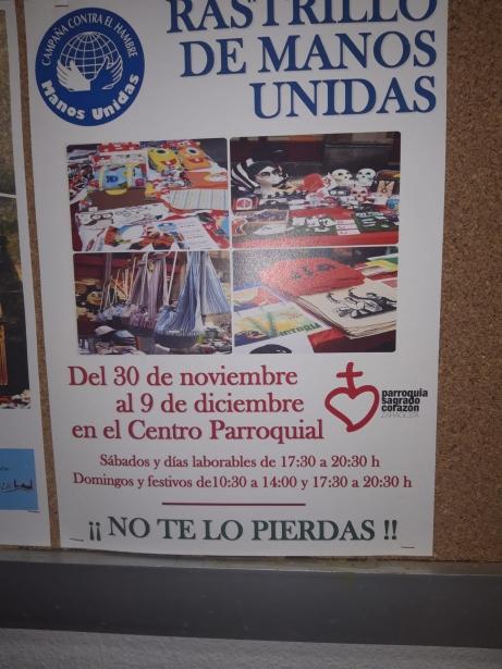 Cartel Rastrillo Solidario parroquia Sagrado Corazón