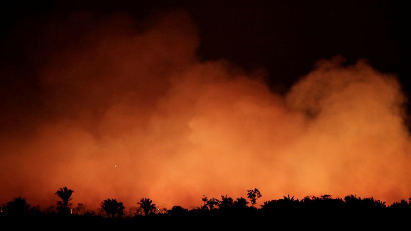 Preocupación ante la oleada de incendios en la Amazonía. Foto: REUTERS