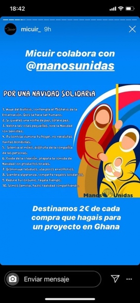 Micuir colabora con Manos Unidas Madrid