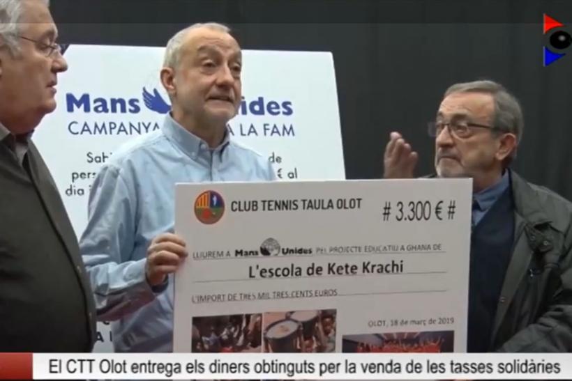 El CTT Olot hace entrega a Manos Unidas de 3.300 euros