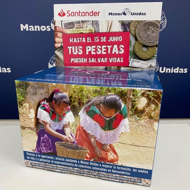 Campaña conjunta recogida pesetas Santander Manos Unidas