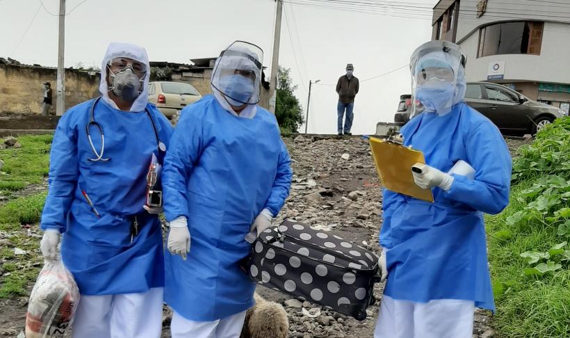 Proyecto Apoyo Comunitario Integral por Emergencia del Coronavirus en Quito. Ecuador. Foto: Fundación Tierra Nueva