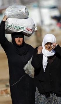 Jamina y Fátima, refugiadas sirias. Foto: Manos Unidas