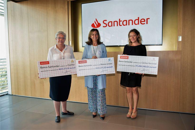 Entrega importe Fondo Solidario Santander. Foto: Banco Santander