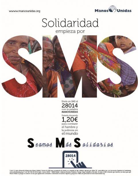 """Manos Unidas lanza la campaña SMS: """"Seamos más Solidarios"""""""