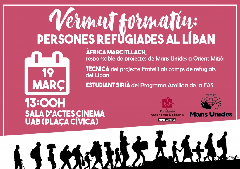 Aperitivo formativo: personas refugiadas en el Líbano