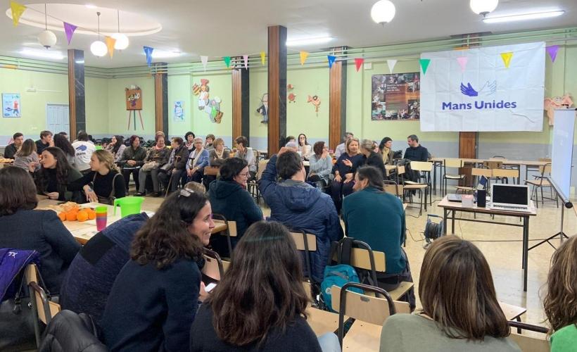 Cena del Hambre en  Manos Unidas Valencia celebrada en la localidad de Alacuás.