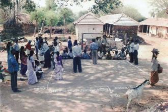 Campesinos de Mannachanallur. Foto: Manos Unidas